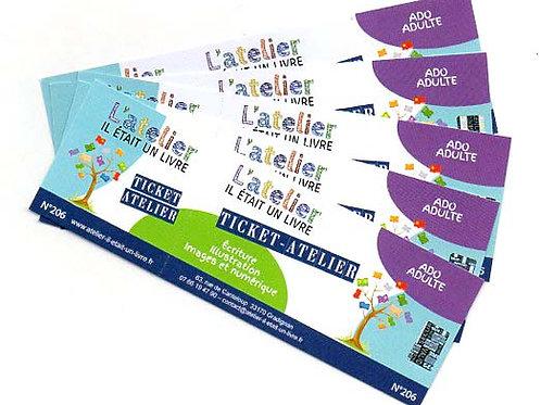 Carnet 5 tickets-atelier ADO-ADULTE