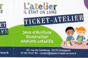 Ticket-atelier à l'unité ENFANT