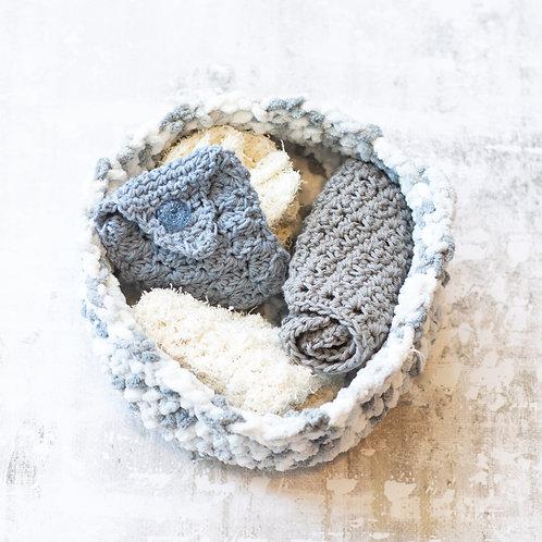 Crocheted Spa Basket