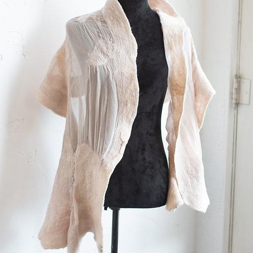 Merino Wool and Silk Chiffon Wrap