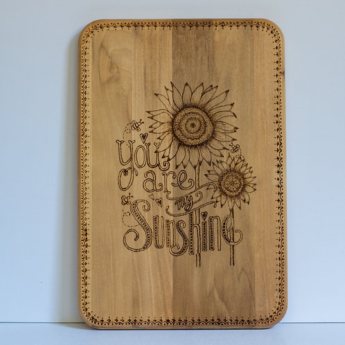 "Pyrography Cutting Board, ""Heidi"""