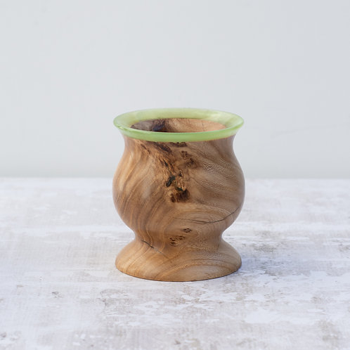 Elm wood vessel with resin