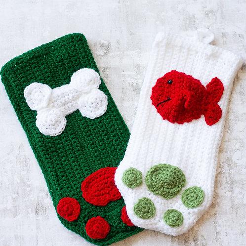 Hand Crocheted Pet Stockings