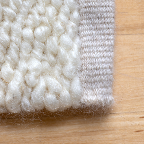Mohair Rug, Natural White