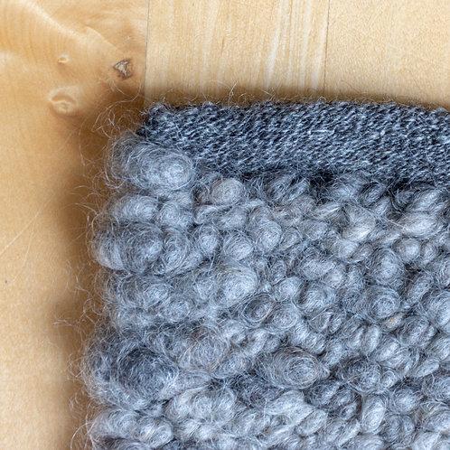 Mohair Rug, Natural Gray