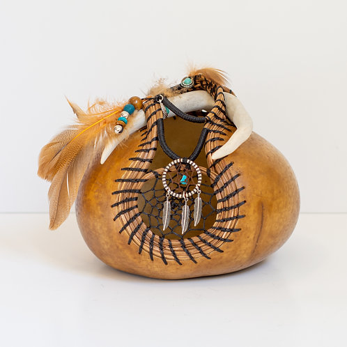 """Pyrography  Gourd, """"Kylee"""""""