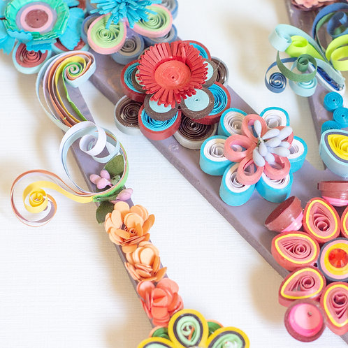 Quilled Letters, large