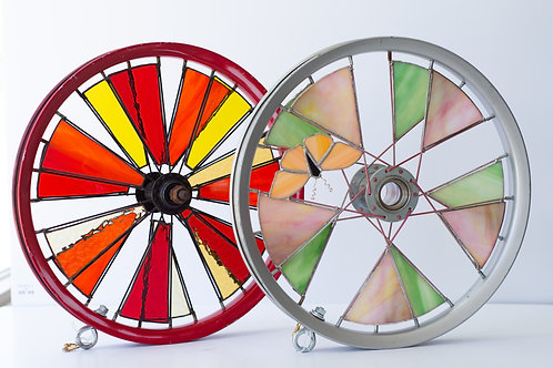 Bicycle Rim Stained Glass