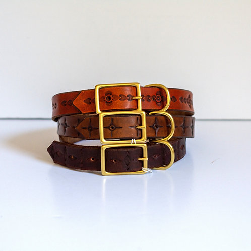 Leather dog collars, large