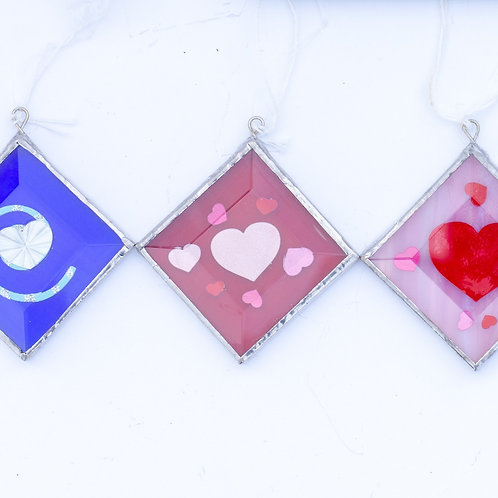 Stained Glass, beveled squares; choice of one