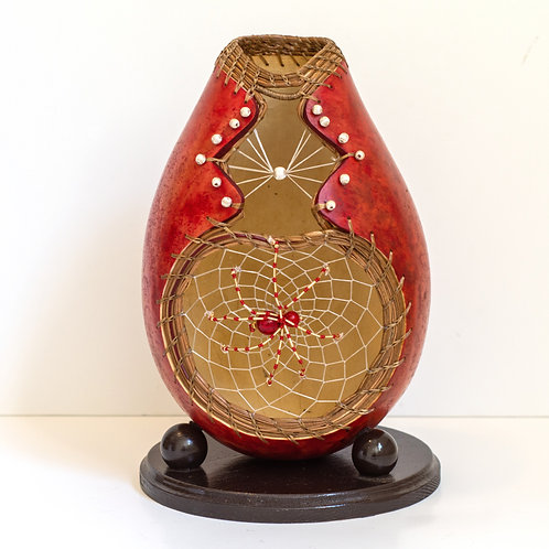 """Gourd, """"Christmas Spider"""" SOLD"""