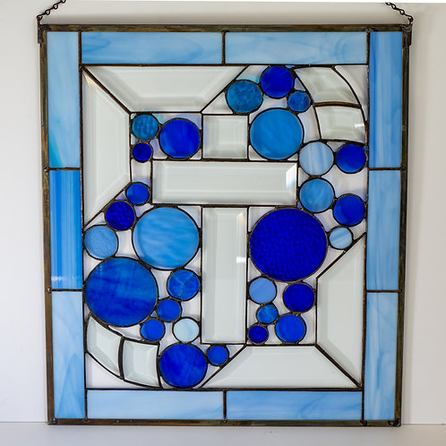 Stained Glass Blue Cross