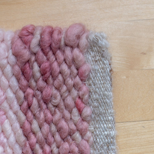 Mohair Rug, Indie-Dyed Blush