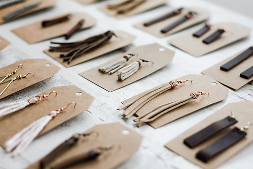 Handcrafted Leather Earrings