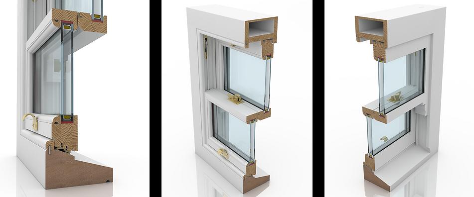 Double glazed sash window Profile