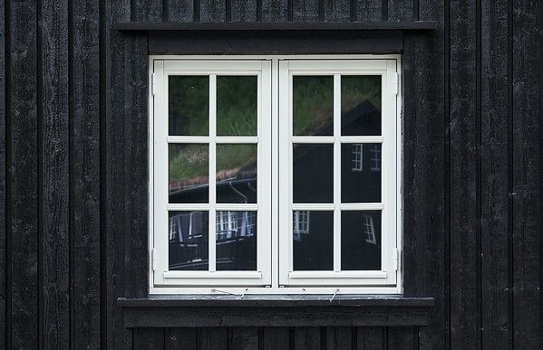Colonial style casement window of white