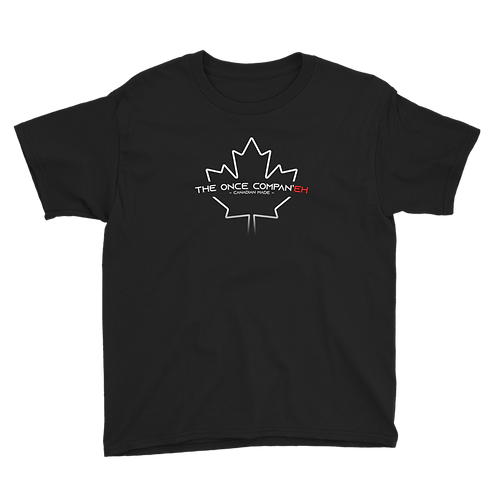 Black Canadian Made Tee - Youth