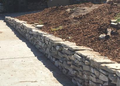 PV stone retaining wall