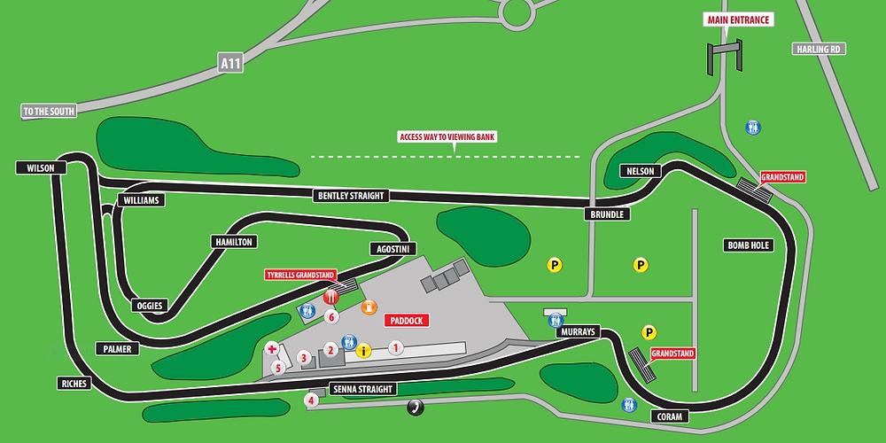 Snetterton 300 map