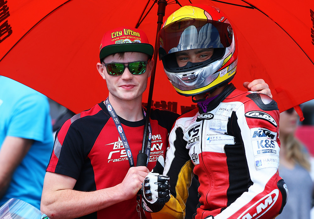 Eugene with his pal Jake Archer at Snetterton