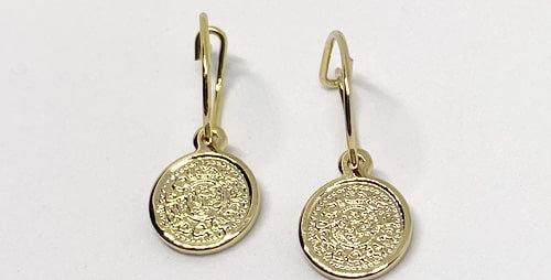 Oorringen lucky coin