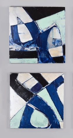 Blue Sea Angles III & IV Diptych