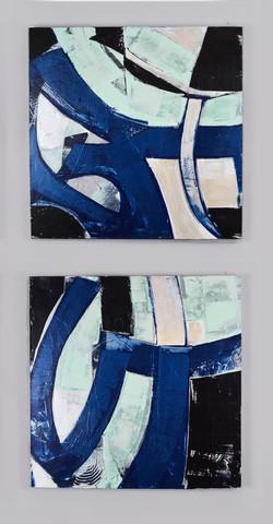 Blue Sea Angles I&II Diptych