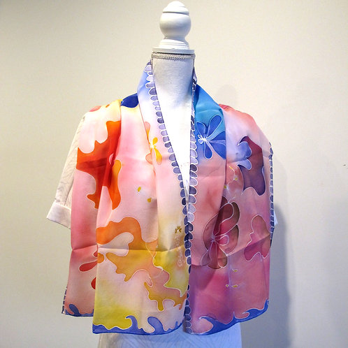 Hand painted silk scarf - ABSTRACT1