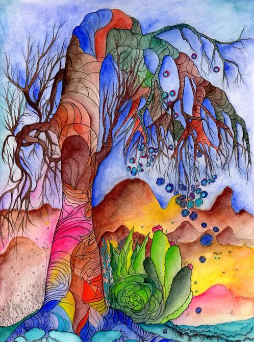 California inspired tree