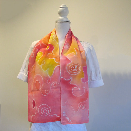 Hand painted silk scarf - ABSTRACT5