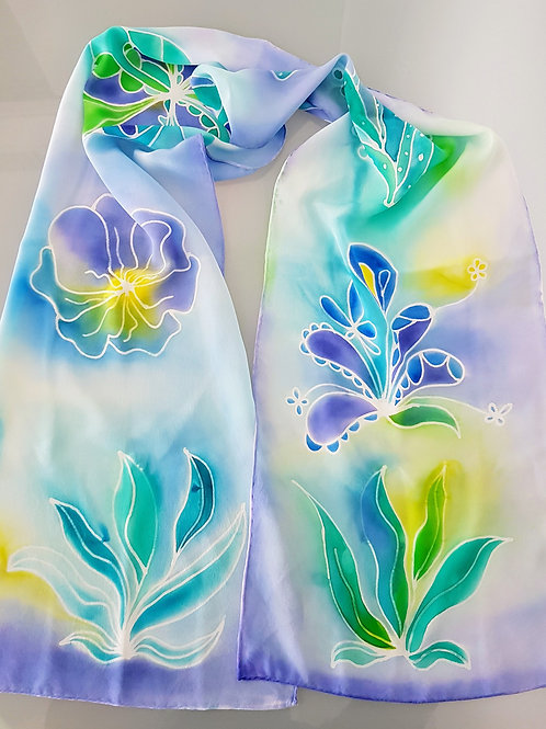 Hand painted silk scarf - SOFRANCE2
