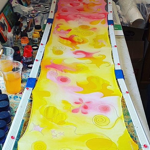 Hand painted silk scarf -SUMMER1
