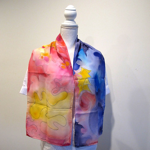 Hand painted silk scarf - ABSTRACT4