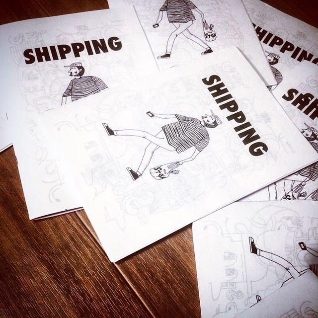 """先日初めて試作でzine作った!_名前は""""SHIPPING""""_欲しい方いたら余裕"""