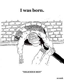 "🍕🔥🍕🔥🍕_._"" I was born. "" (500℃)_"