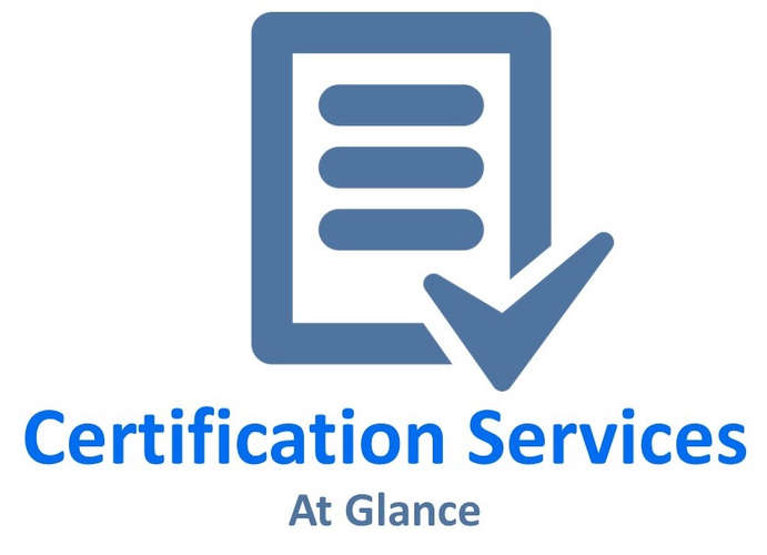 Certification Services at glance
