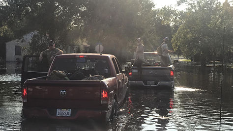 Veterans with Task Force 75 conducting rescue and relief efforts in Texas during hurricane Harvey 2017