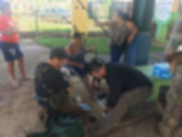 Task Force 75 medics assist injured people in Puerto Rico in the aftermath of hurrcane Maria 2017