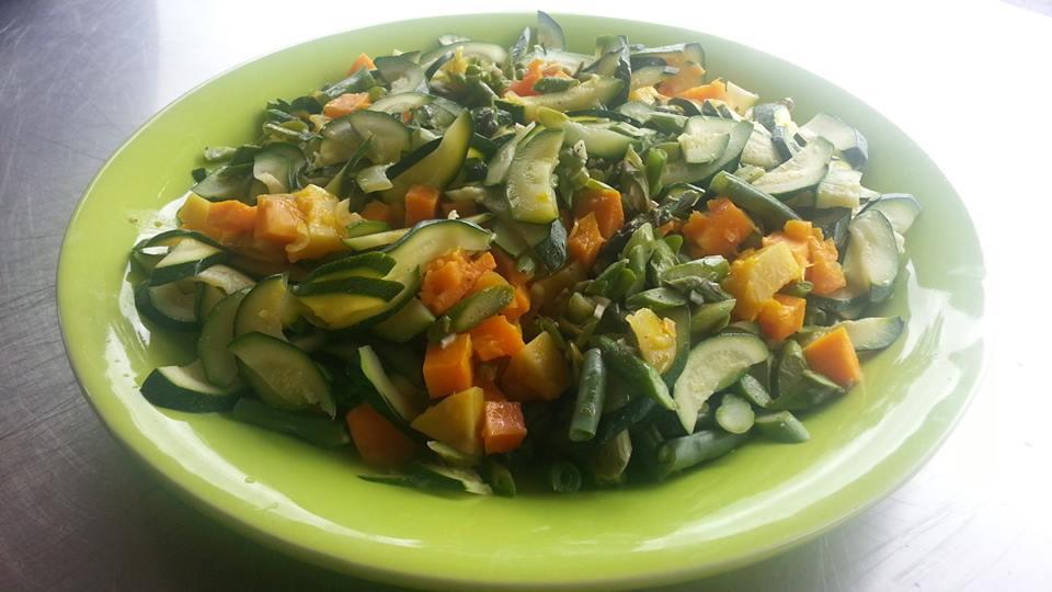 kumera and veggie salad