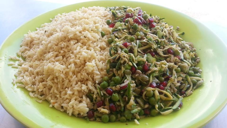 zucchini and pea salad