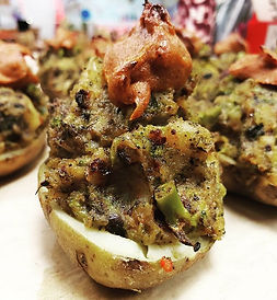 Our Loaded Potatos with a Little Kick. T