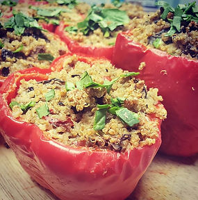 Our Stuffed Peppers are stuffed with Qui