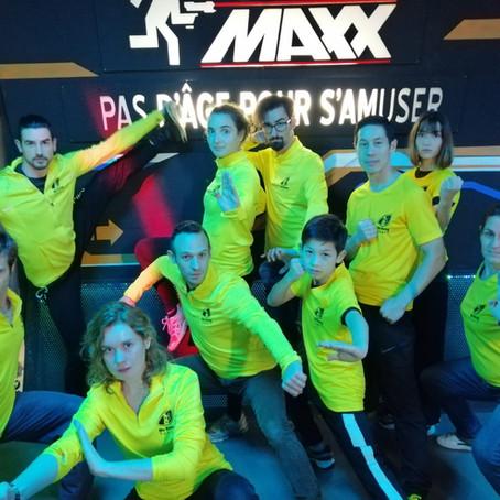 Laser Maxx avec l'équipe de Wukong Tours