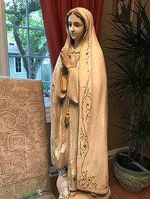 Fatima statue restored.