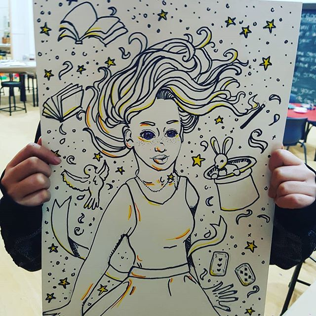 _Draw magic and what it looks like in your head... _  Eden you blow us away every week!!!_._._._