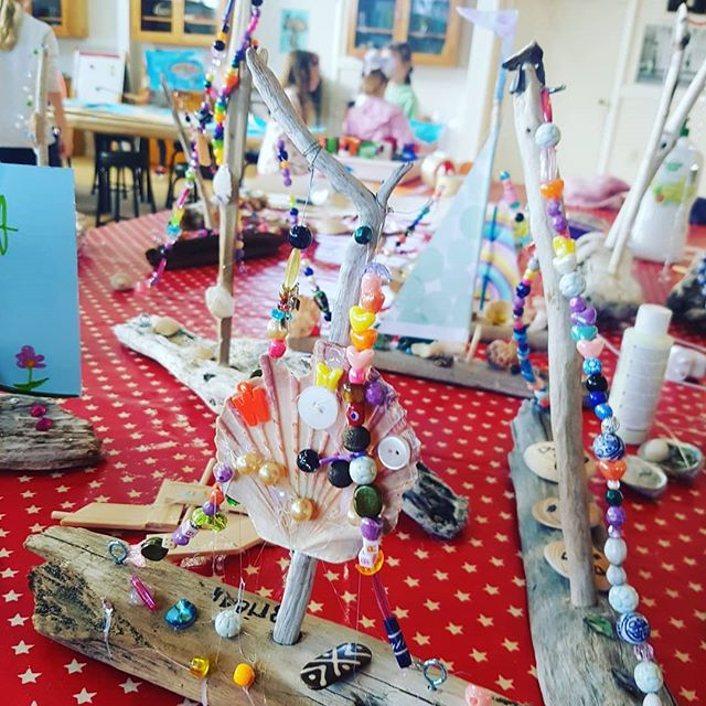 Just a few of the many 'driftwood creations' made by our clever kids at Day 3 of our holiday program