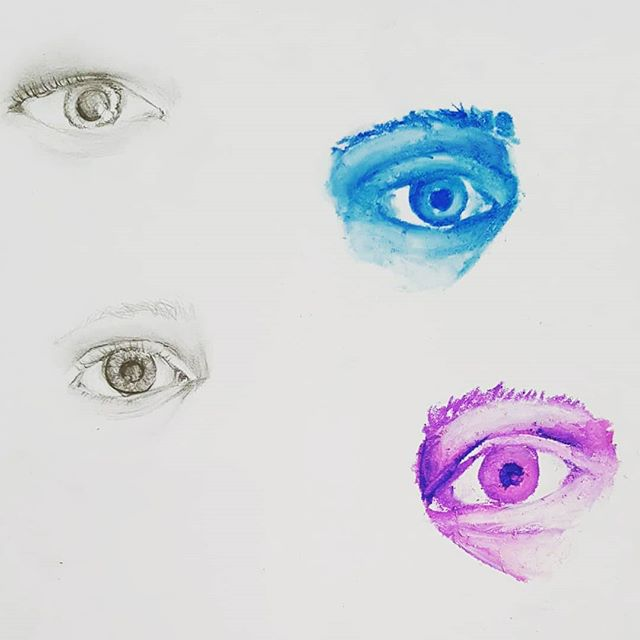 Pencil & oil pastel.  Each week our students blow us away!_._._