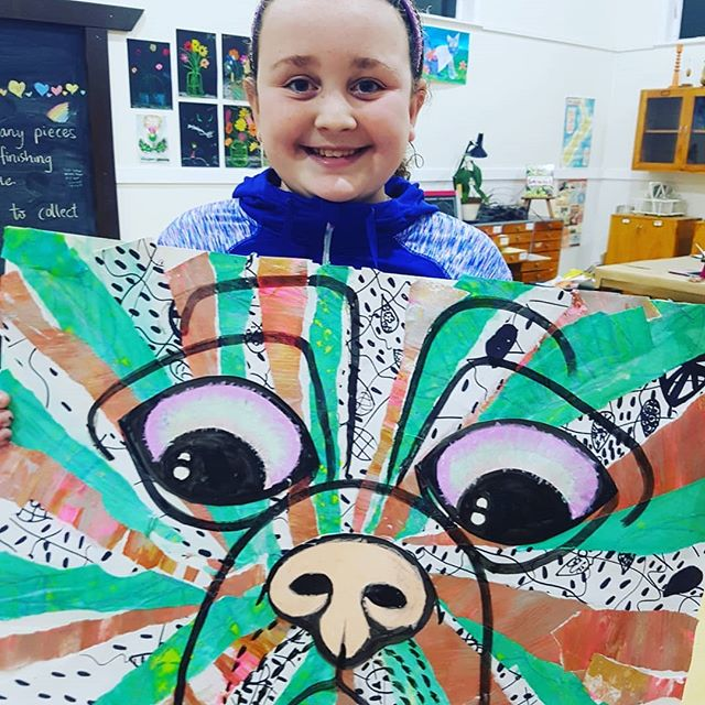 This project has been fab!  Mark making, zentangle...jpgrip it all up then create a background for a