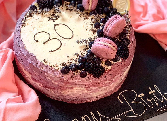 Blueberry Madagascan Vanilla Cake