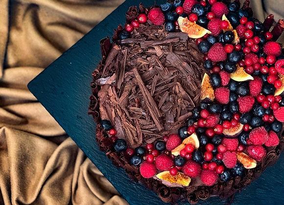 Pure Vanilla & Fine Belgian Chocolate Cake